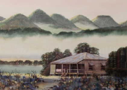 """Early Morning Mists over the River, Yungaburra"""