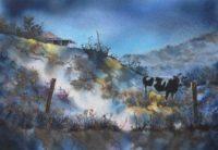 """""""A Cow of a Day, Yungaburra"""" Card"""